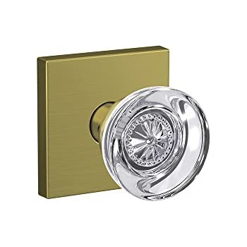 Schlage Custom Fc21 Alx 608 Ald Alexandria Glass Knob With