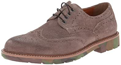 Kenneth Cole REACTION Men's Clip Suede Oxford,Taupe,9 M US
