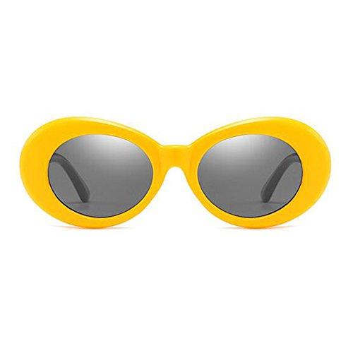 Yefree style ovales 9 soleil Lunettes gris choix Jaune de épaisse mod de couleurs de rétro lunettes mode XwCXrtq