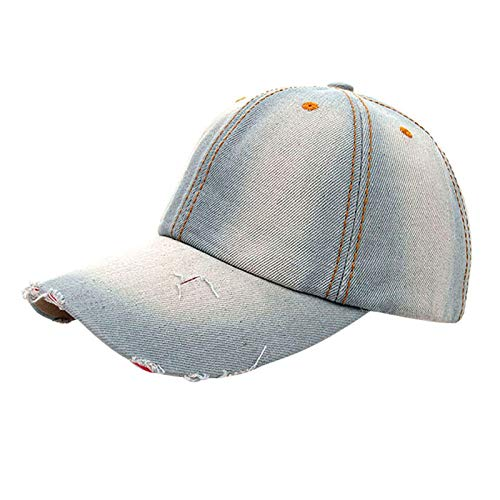 EOWEO Caps Hat,2019 anniversary celebration Women Men Denim Baseball Cap Snapback Hip Hop Flat Hat
