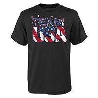 USOC Team USA Star Team Short Sleeve Tee, Large (14-16), Black