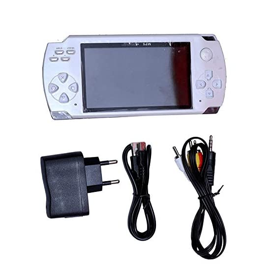 POWERNRI Grand Classic PSP MP4 Player with Built-in 4GB Memory with 10000 Games White