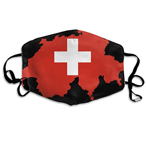SyjTZmopre Flag-Map_of_Switzerland Mouth Mask Unisex Printed Fashion Face Anti-dust Masks]()
