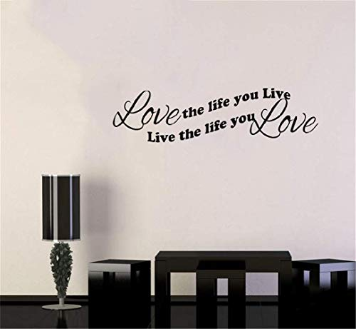 liotry Removable Vinyl Decal Art Mural Home Decor Wall Stickers Love The Life You Live Live The Life You Love Living ()