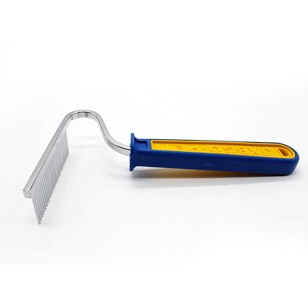 JIGAN Pet Undercoat Rake- Removes 90% of Dead Undercoat and Loose Hairs,Suitable for Medium and Long Haired Dogs Cats