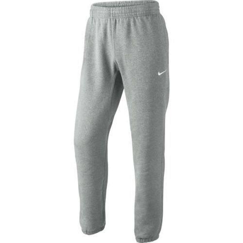 Nike Tapered Club Swoosh Men's Fleece Sweatpants 826431 063 Grey Size XL