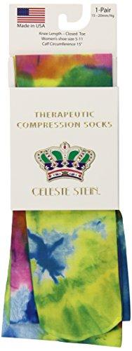 - Celeste Stein Therapeutic Compression Socks, Dye, 15-20 mmhg, 1-Pair