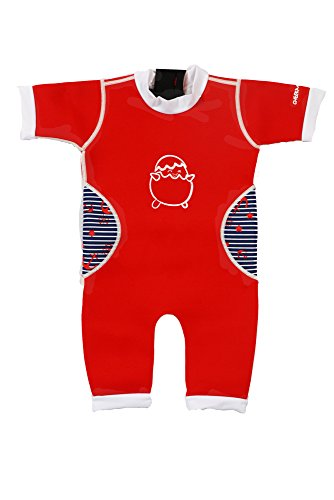 Baby Thermal Warmiebabes Swim Suit (12-18 Months, Red / Sailor)