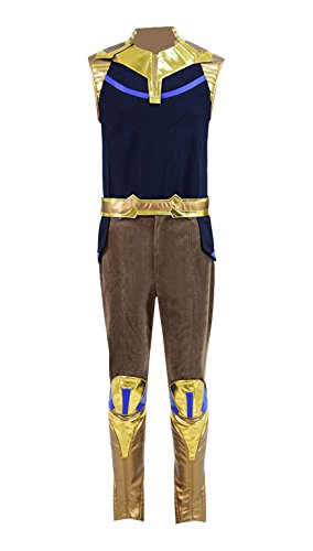 2018 Hot Super Hero Movie Infinite Boss Thano Costume Men Comic-Con Costume (Black, US -