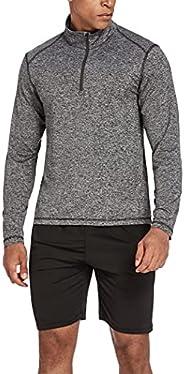 COOrun Men's Quarter Zip Pullover Quick Dry Shirts Lightweight Running Sweats