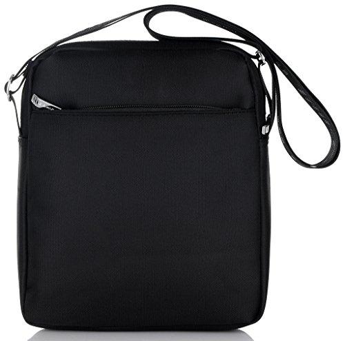 TAIKES Men's Shoulder Travel Messager Bag Crossbody Ipad Bag Daypack Black-4