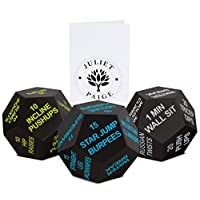 Juliet Paige Exercise Dice for Home Fitness, Workouts, Crossfit WOD, Cardio, HIIT, and Sports with Exercise Illustration Booklet