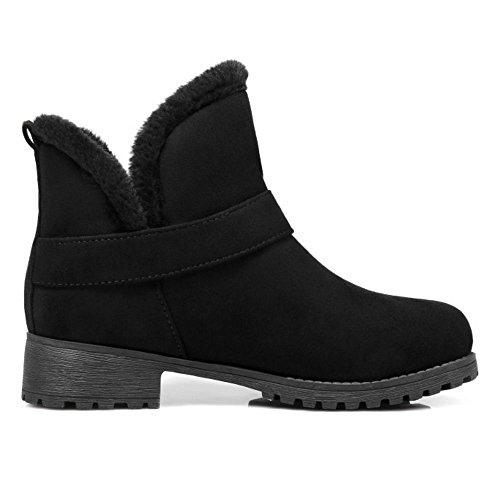 On Black Lined Women Warm Slip Boots COOLCEPT qgatBW