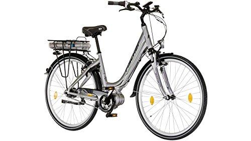 FISCHER FAHRRAEDER E-Bike City Damen Ecoline, 28 Zoll, 7 Gang, Mittelmotor, 317 Wh 71,12 cm (28 Zoll)