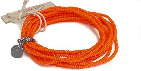 EFI シードビーズ マルチストランド 10連 ストレッチブレスレット SPICY ORANGE スパイシーオレンジ