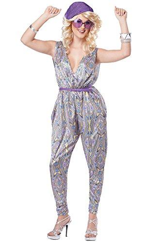 California Costumes Women's Boogie Fever 70's Disco Dance Costume, Purple, ()