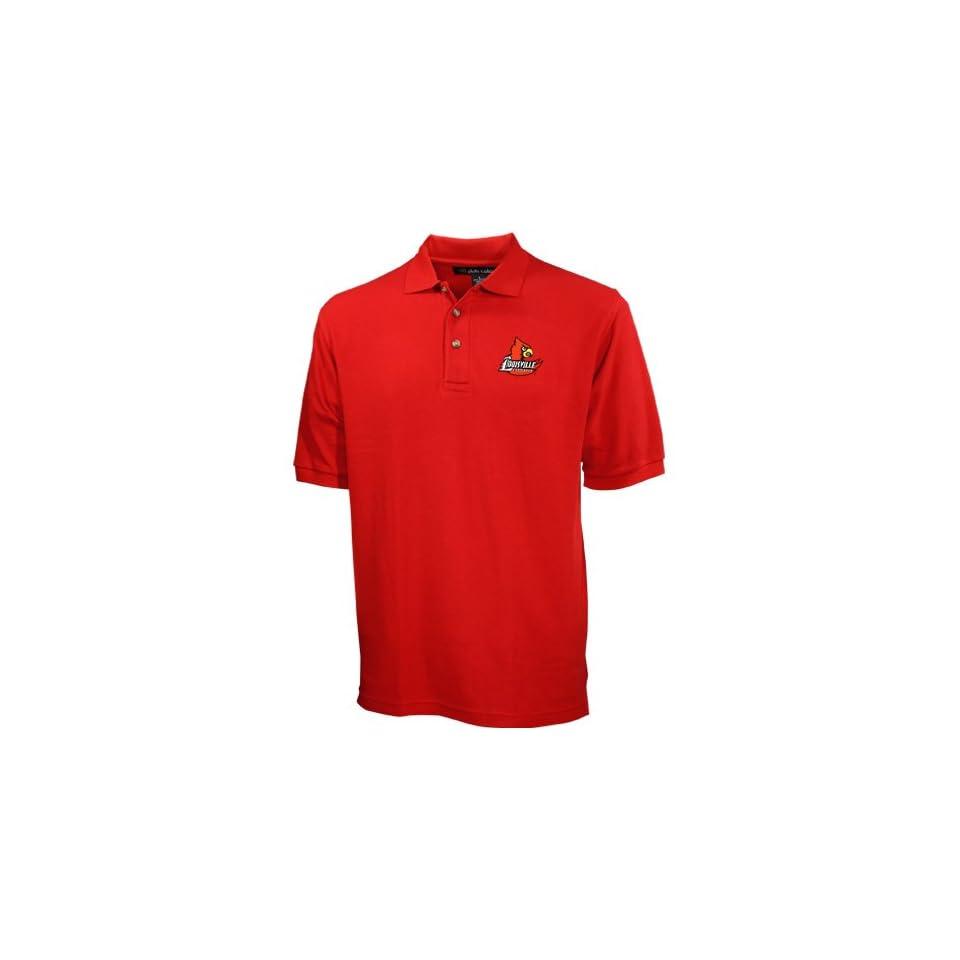 Louisville Cardinals Red Pique Polo