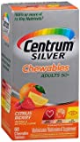 Centrum Silver Adults 50+ Chewables Tablets Citrus Berry – 60 ct, Pack of 6 For Sale