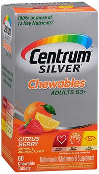 Cheap Centrum Silver Adults 50+ Chewables Tablets Citrus Berry – 60 ct, Pack of 6