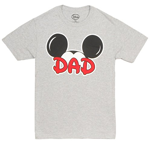 Disney Adults Mickey Mouse Dad Fan Grey Large T-Shirt for $<!--$19.97-->