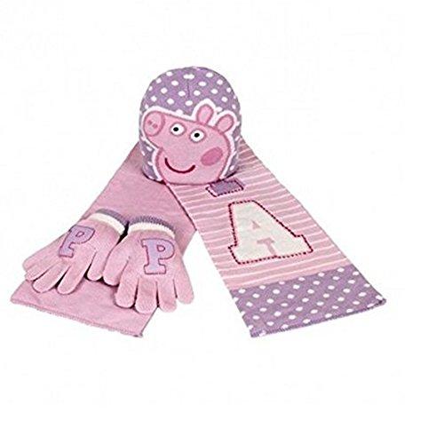 gants Pig Peppa Echarpe jacquard Ensemble bonnet Ew6vqnnR