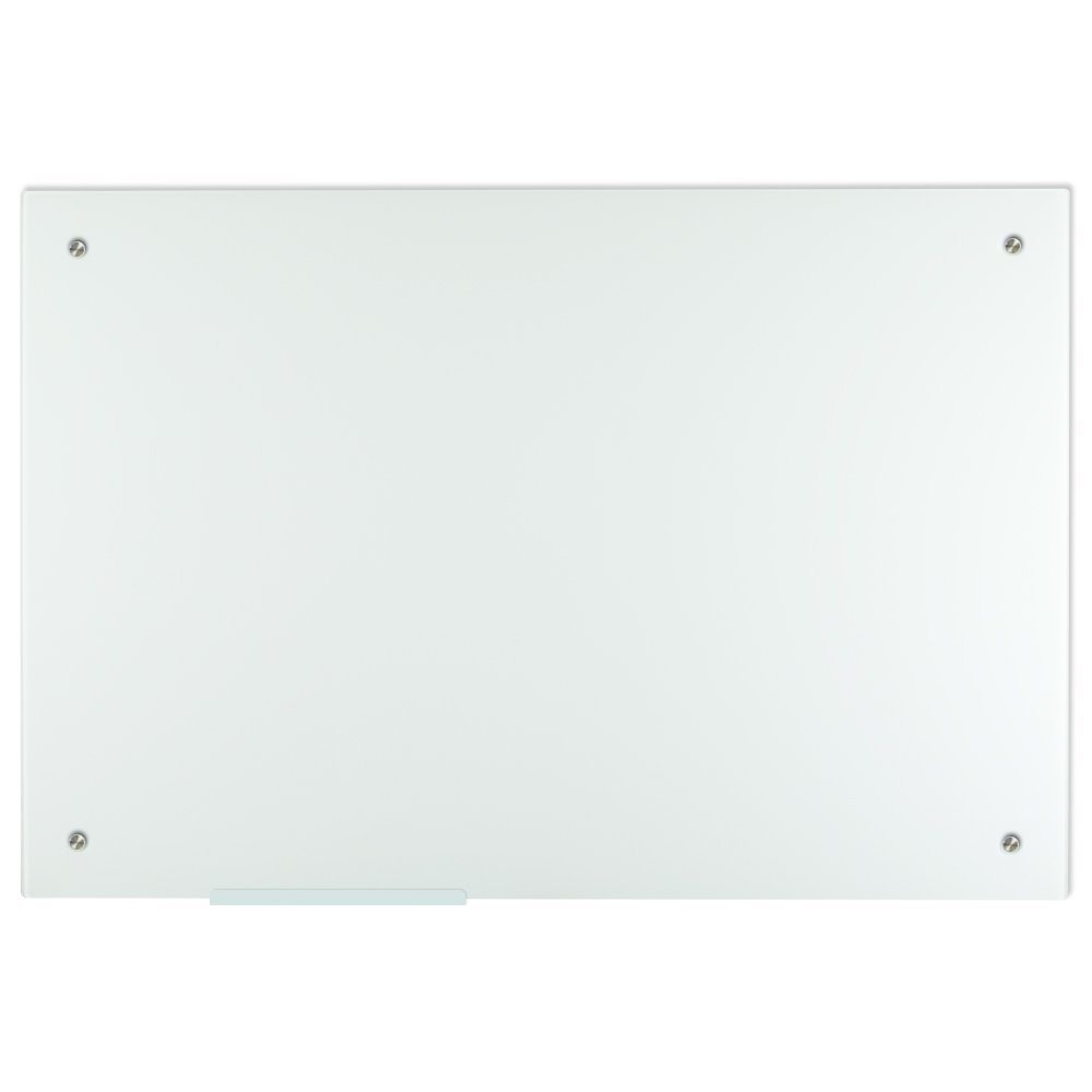 Lockways Glass Dry Erase Board – Ultra Whiteboard/White Board 36 x 24, Frameless, Clear Marker Tray, for Office, Home, School by Lockways (Image #1)