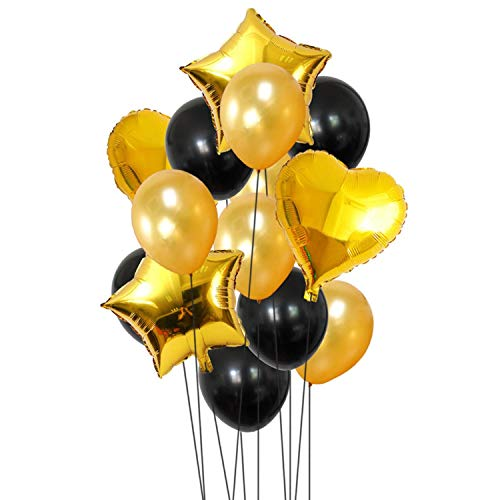 14pcs 12inch 18inch Multi Air Balloons Happy Birthday Party Helium Balloon Decorations Wedding Festival Balon Party Supplies,Gold