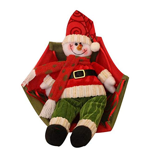 Iusun Christmas Tree Decoration Santa Claus Snowman In Parachute Hanging Xmas Tree Pendants DIY Ornament Wedding Party Holiday New Year Decor- Shipping From USA (Red) -