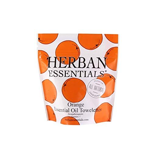 Oil Towelettes - Herban Essentials Mini Towelettes (Orange)