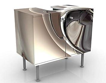 Meuble Sous Vasque Design Glossy 60x55x35cm Petit 60 Cm De Large