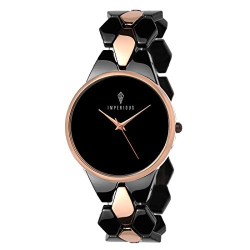 IMPERIOUS – THE ROYAL WAY Analogue Black Dial Women's Watch