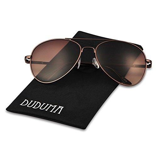 Duduma Premium Mirrored Aviator Sunglasses
