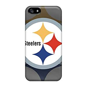 Rugged Skin Case Cover For Iphone 5/5s- Eco-friendly Packaging(pittsburgh Steelers) by icecream design