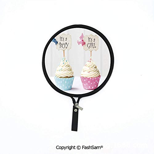 Fashion Multi-Functional Waterproof Digital Bag Boy and Girl with Cupcakes Yummy Chocolate Celebration Theme Mouse Pad