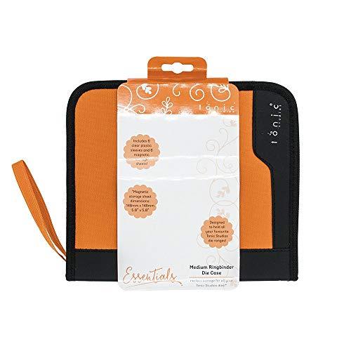 (TONIC STUDIOS 344E 6 Piece Ringbinder Clear Inserts and Magnetic Sheets, Medium, Orange/Black)