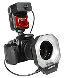 Bower SFD14S Digital Macro Ring Flash for Sony A100/200/230/290/300/330/350/380/390/450/500/560/550/700/850/900 Digital SLR Cameras