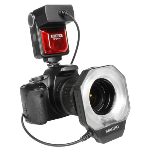 Bower SFD14C Canon E-TTL I/II  Macro Ring Flash