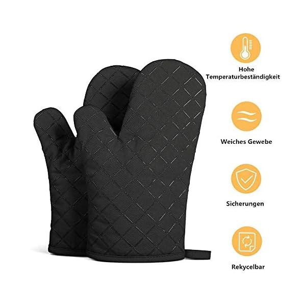 Set da 2 guanti da forno antiscivolo di qualità, resistenti fino a 240°C, in silicone, estremamente resistenti al calore… 2 spesavip