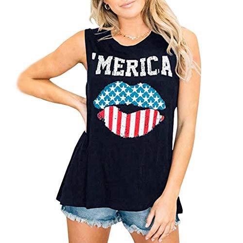 (Toimothcn Womens Tank Tops Vest Summer Sleeveless Graphic Tees Long Rainbow Print Tunics Shirts(Navy,S))