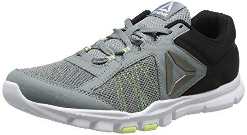 Mt tain Pour 0 Silex Reebok Fitness Flash De Hommes lectrique Gris Train Yourflex 9 gris Blanc Noir Chaussures B8qwztT