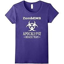 EMS Zombie Apocalypse Rescue Team Halloween T-Shirt