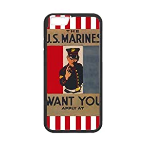 Marine Corps Cell Phone Protector for iPhone 6(4.7) Plastic and TPU (Laser Technology)