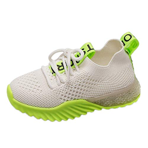 Unisex Kids LED Sneakers Girls Boys Soft Knit Breathable Light Up Flashing Shoes Fashion Slip on Gift Shoes
