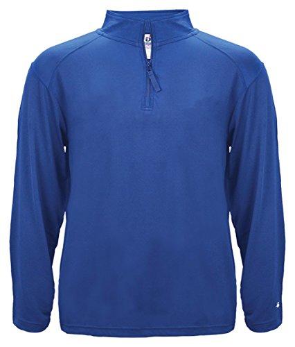 Badger Adult ¼-Zip Lightweight Pullover Jacket - Royal - M