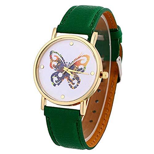 Relojes de Mujer, Neiva explosión Solo Amarillo Mariposa Correa de Reloj Reloj Placa Reloj de