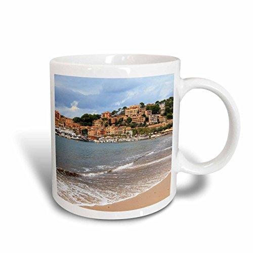 - 3dRose Danita Delimont - Cities - Spain, Balearic Islands, Mallorca, Port of Soller historic waterfront - 11oz Mug (mug_277908_1)