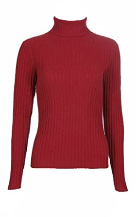 Sutton Studio Cashmere Large Ribbed Turtleneck Sweater Misses ...