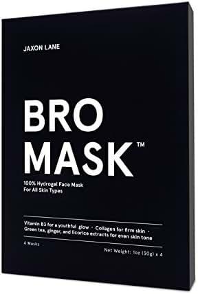 JAXON LANE BRO MASK 100% Hydro Gel 2-Piece Facial Sheet Mask (Box of 4)