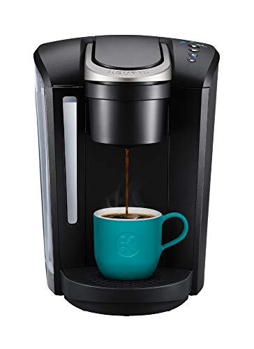 Keurig K-Select Single Serve K-Cup Pod Coffee Maker, With Strength Control and Hot Water On Demand, Matte Black (Green 12 Glass Filter)