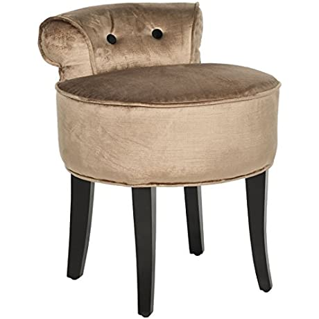 Metro Shop Safavieh Georgia Mink Brown Vanity Stool